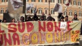 Protestas contra la desigualdad en las regiones italianas