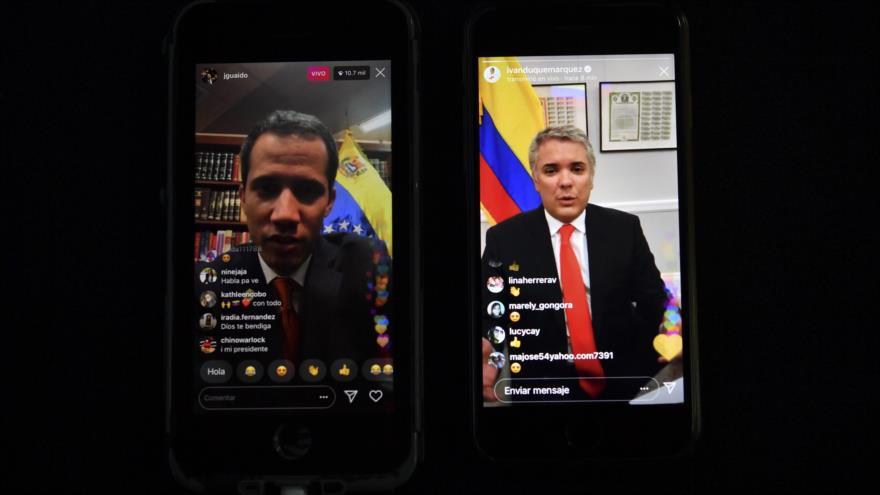 """Duque apoya a Guaidó para la entrada de """"ayuda"""" de EEUU a Venezuela"""