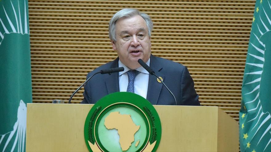 El secretario general de las Naciones Unidas, Antonio Guterres, en una reunión en Adís Abeba (capital de Etiopía), 10 de febrero de 2019. (Foto: AFP)