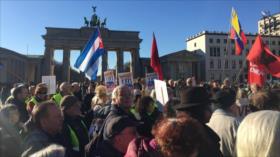 Chalecos amarillos en Alemania rechazan agresión a Venezuela