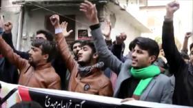 Bin Salman fue recibido en Paquistán en medio de protestas