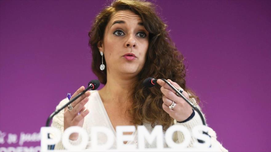 La coportavoz de la Ejecutiva de Podemos, Noelia Vera.