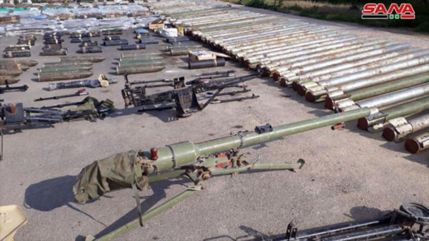 Siria incauta armas de EEUU e Israel en el Campo de Damasco