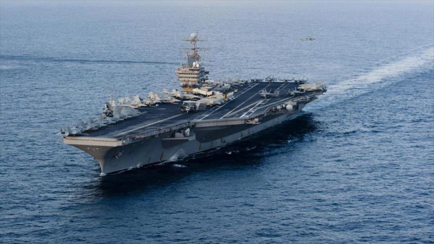 EEUU envía portaviones a Atlántico en medio de tensión con Venezuela | HISPANTV