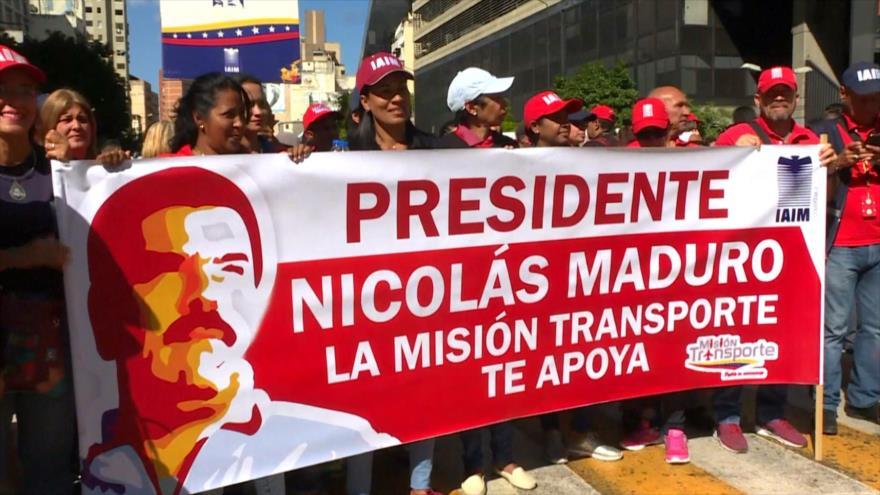 Marcha multitudinaria en Venezuela contra la injerencia de EEUU
