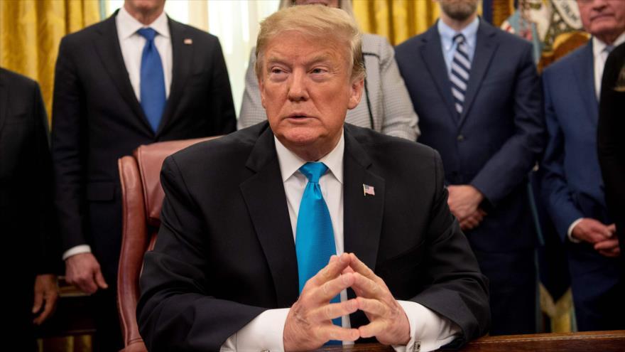 El presidente de EE.UU., Donald Trump, en un acto oficial en Washington D.C., EE.UU., 19 de febrero de 2019. (Foto: AFP)