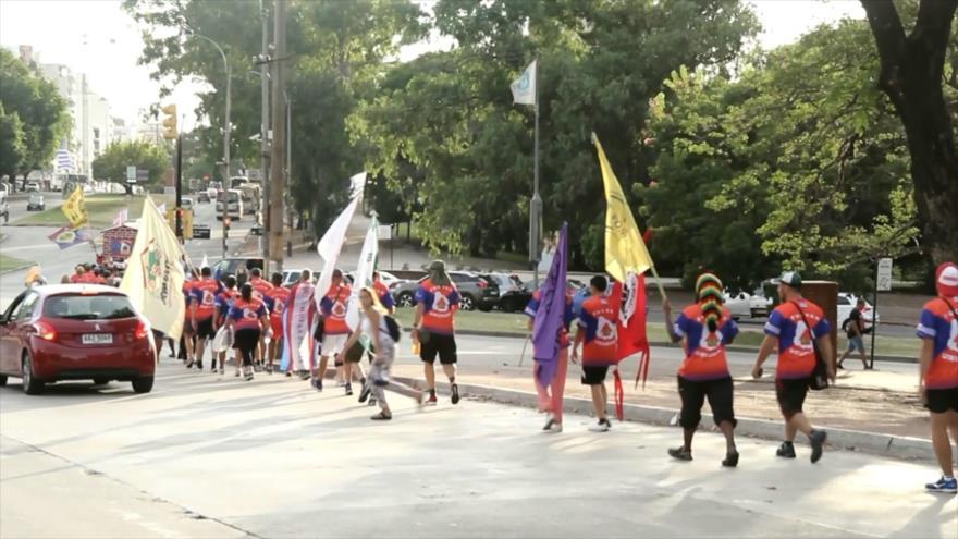 Cooperativas de viviendas de Uruguay inician una marcha de 120 km