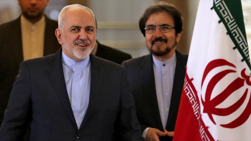 Mohamad Yavad Zarif, canciller de Irán, asiste a una rueda de prensa en Teherán, capital persa, 13 de febrero de 2019. (Foto: AFP)