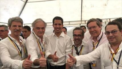 Titulares del PP de España se reúnen con Guaidó en Colombia