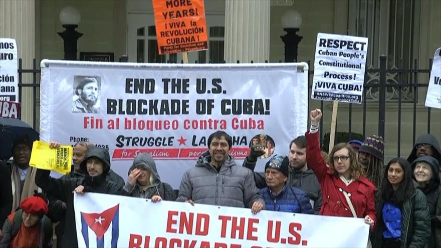 Activistas estadounidenses expresan apoyo a Cuba y Venezuela