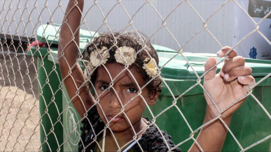 Un niño desplazado yemení en la provincia de Al-Hudayda, 21 de enero de 2019. (Foto: AFP)
