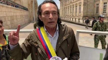 Vídeo: Un hombre se autoproclama 'presidente interino' de Colombia