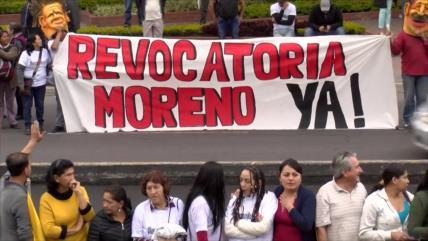 Presentan trámite de revocatoria contra Moreno en Ecuador