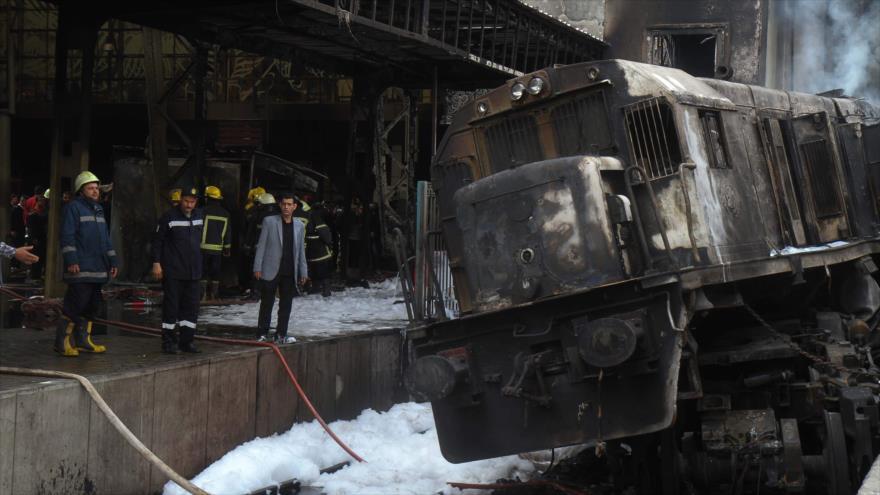 Al menos 20 muertos y 40 heridos en accidente ferroviario en Egipto