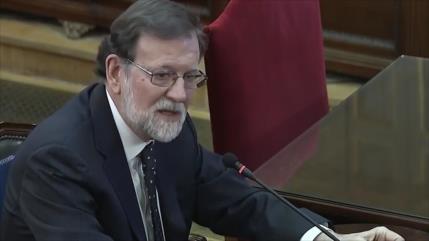 El expresidente Mariano Rajoy testifica en el juicio del procés