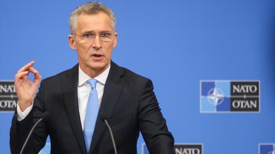 El secretario general de la OTAN, Jens Stoltenberg, da una conferencia en la sede de la Alianza Atlántica en Bruselas, Bélgica, 14 de febrero de 2019. (Foto: AFP)