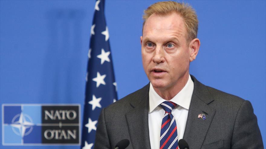 El secretario interino de Defensa de EE.UU., Patrick Shanahan, ofrece un discurso en Bruselas, 14 de febrero de 2019. (Foto: AFP)