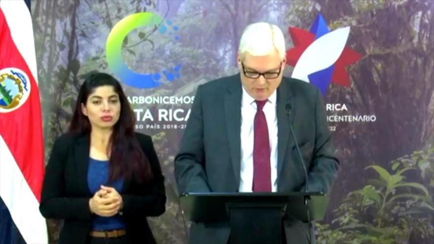 Costa Rica firme contra opción militar en Venezuela