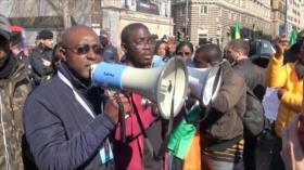 Se manifiestan en Italia por la paz en África