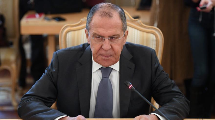 El canciller de Rusia, Serguéi Lavrov, durante una reunión en Moscú (capital), 1 de marzo de 2019. (Foto: AFP)