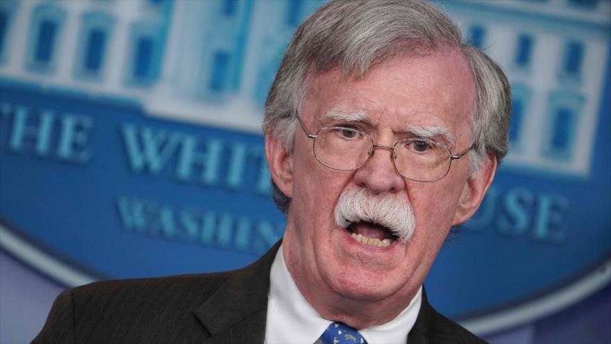 El asesor de Seguridad Nacional de EE.UU., John Bolton, habla en una rueda de prensa en la Casa Blanca, 28 de enero de 2019. (Foto: AFP)