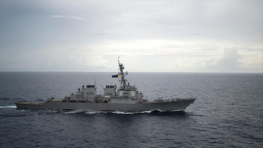 El buque de guerra de EEUU desplegado en el mar de la China Meridional, 21 de octubre de 2016. (Foto: AFP)