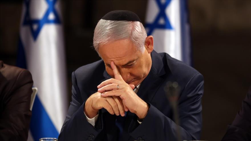 El primer ministro israelí, Benjamín Netanyahu, durante una reunión del gabinete, 28 de mayo de 2017. (Foto: AFP)