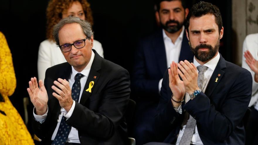 Jefe del Parlament llama a celebrar otro referéndum en Cataluña