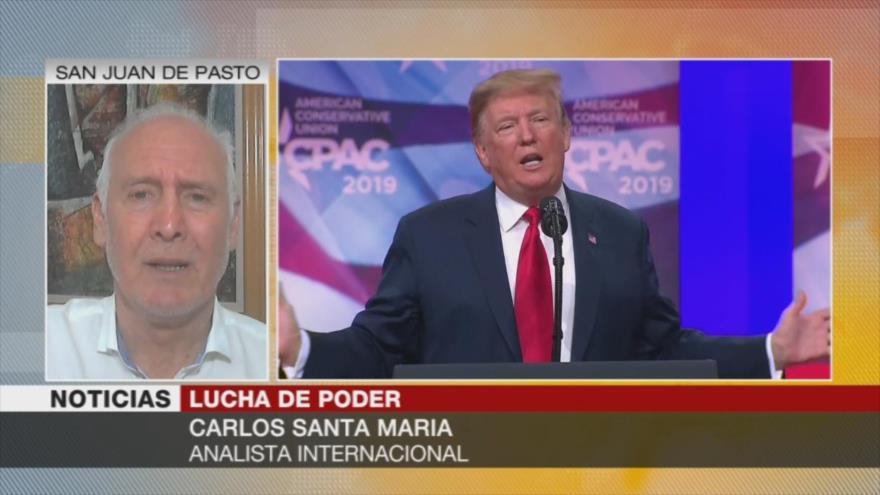 Santa María: Pesquisa contra Trump debilita su poder guerrista