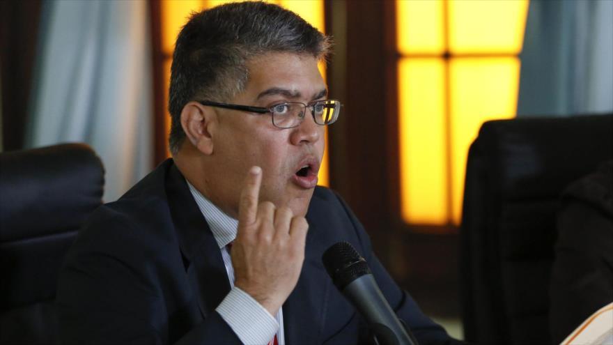 Elías Jaua, dirigente del gobernante Partido Socialista Unido de Venezuela (PSUV).