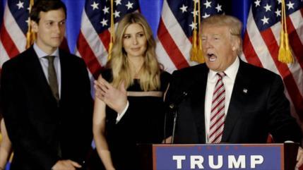 Trump habría presionado por permiso especial para Ivanka y Kushner