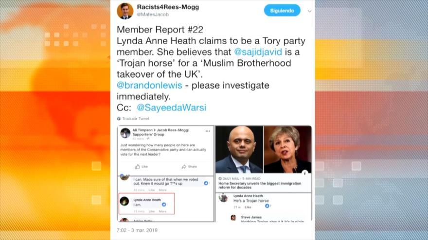 Islamofobia afecta al liderazgo del Partido Conservador británico | HISPANTV