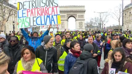 """Chalecos amarillos"" vuelven a las calles de toda Francia"