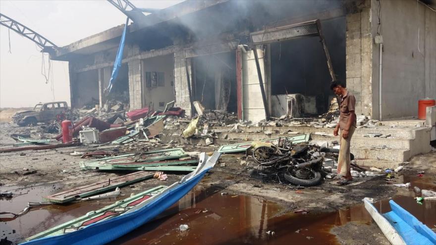 Vídeo: Mueren 20 mujeres y un niño en ataque saudí contra Yemen