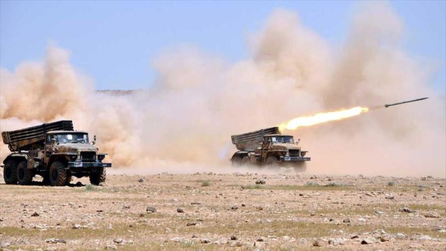 Vídeo: Ejército sirio pulveriza bastión terrorista en Idlib