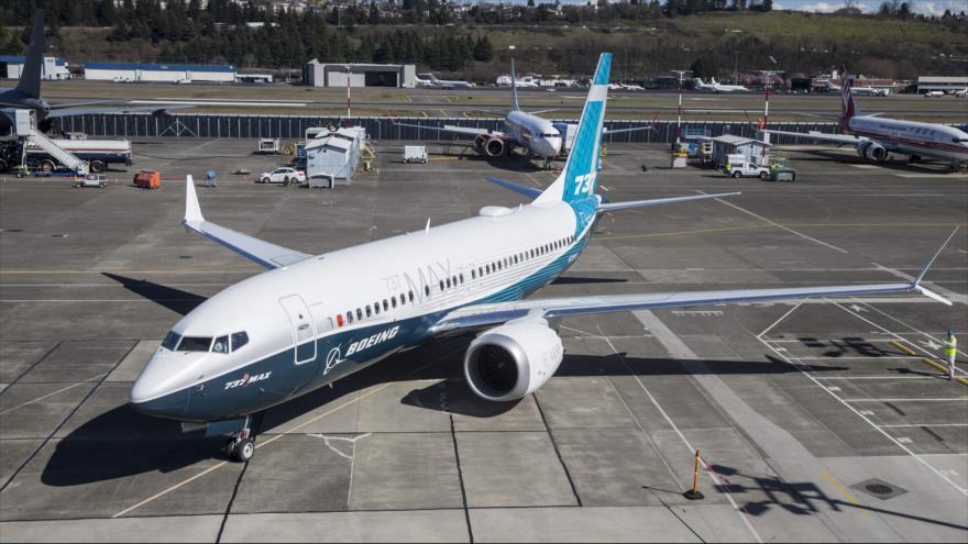 Un avión Boeing modelo 737 MAX 7, Seattle, Washington, 16 de marzo de 2018. (Foto: AFP)