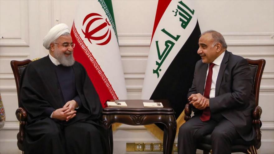 El presidente iraní, Hasan Rohani (izda.), y el primer ministro iraquí, Adel Abdul-Mahdi, en Bagdad, capital de Irak, 11 de marzo de 2019. (Foto: AFP)