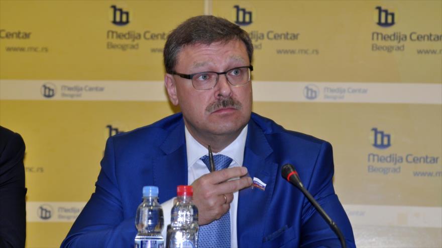El jefe del Comité de Asuntos Exteriores del Consejo de la Federación Rusa (el Senado), Konstantin Kosachev.