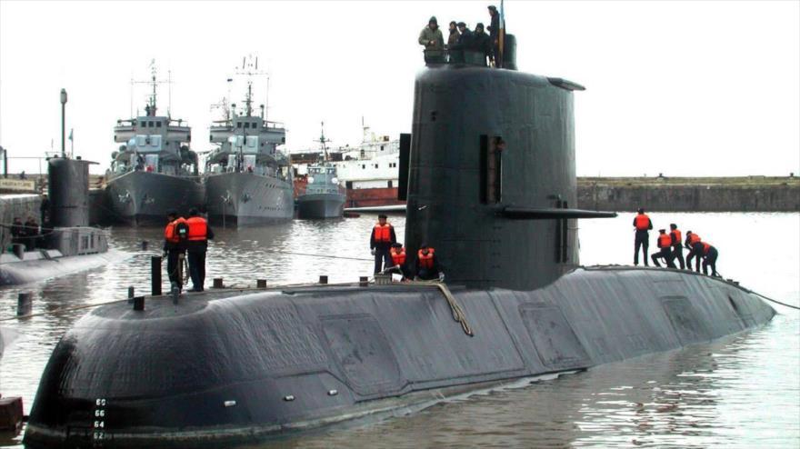 El submarino ARA San Juan de la Fuerza Armada de Argentina.