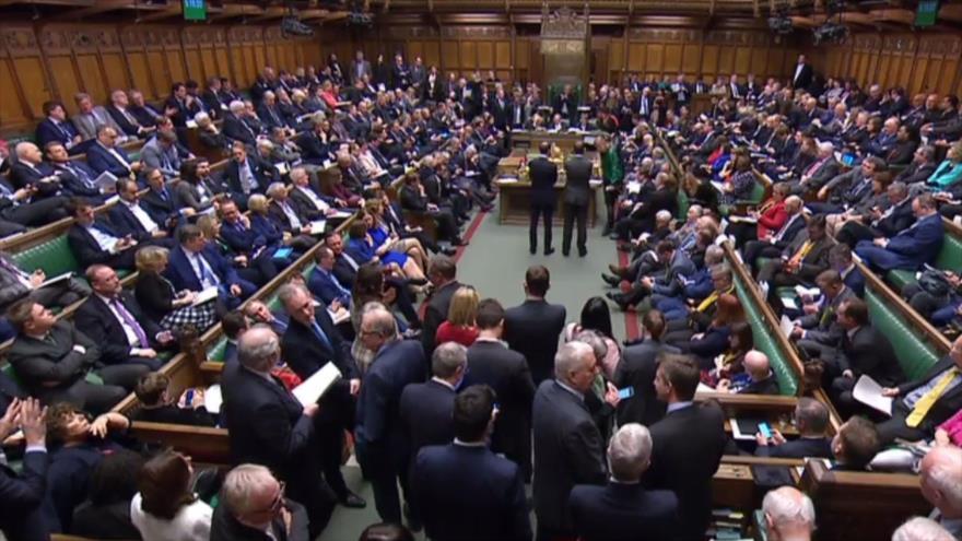 La Cámara de los Comunes durante una votación sobre el Brexit, 14 de marzo de 2019. (Foto: AFP)