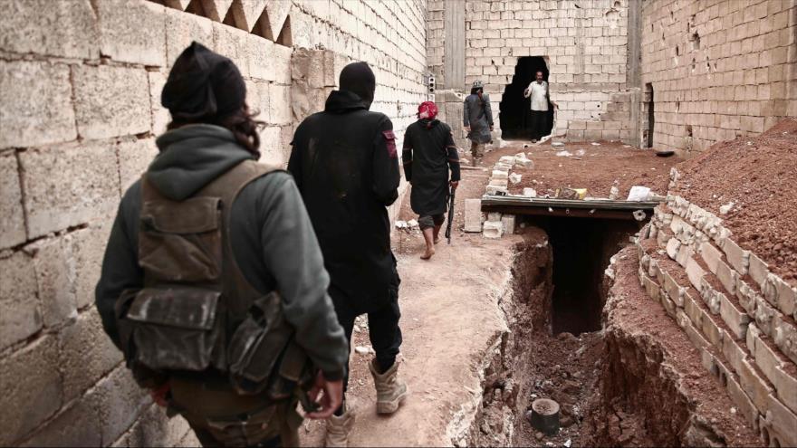 Rebeldes sirios en la provincia de Alepo, 8 de octubre de 2018. (Foto: AFP)