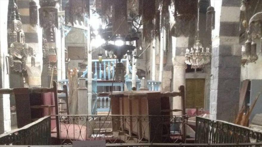 La sinagoga Jobar, cerca de Damasco, la capital de Siria.