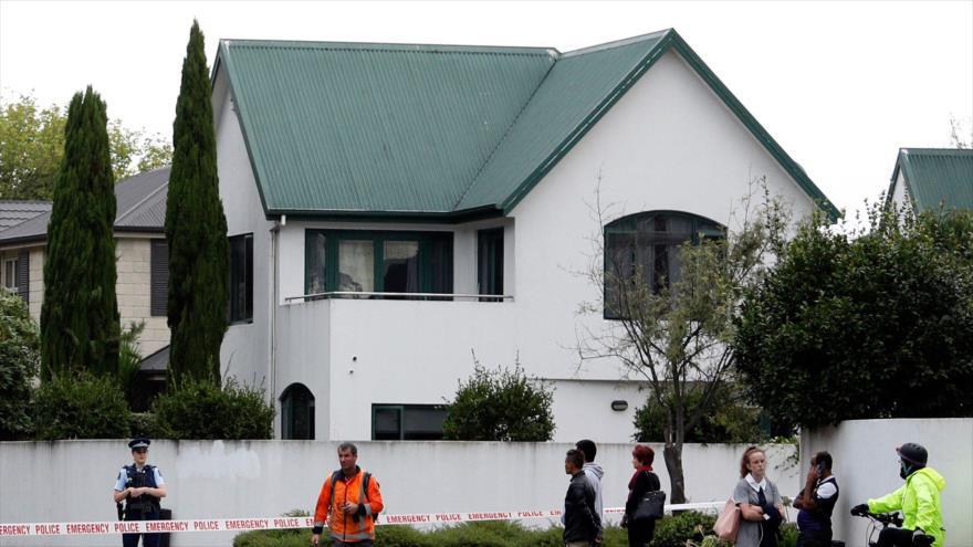 La Mezquita Al-Noor en la ciudad Christchurch de Nueva Zelanda, donde ocurrió un ataque terrorista, 15 de marzo de 2019. (Foto: AFP)