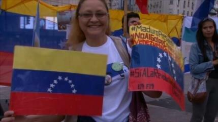 """""""Banderazo"""" por Venezuela en Argentina"""