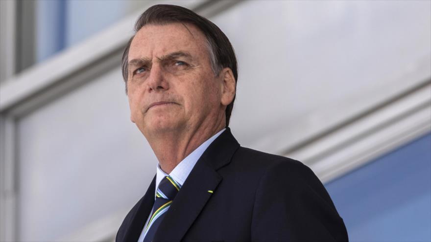 El presidente de Brasil, Jair Bolsonaro, en el Palacio de Planalto, en Brasilia (capital), 12 de marzo de 2019. (Foto: AFP)