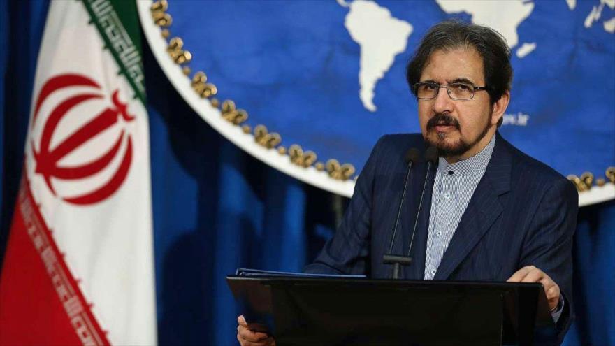 El portavoz de la Cancillería de Irán, Bahram Qasemi, en una conferencia de prensa en Teherán, la capital.