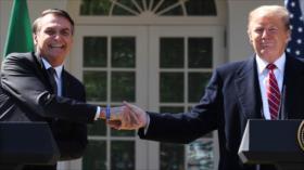 """Venezuela repudia """"peligrosas declaraciones"""" de Trump y Bolsonaro"""