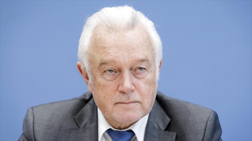 El vicepresidente del Parlamento alemán, Wolfgang Kubicki, durante una rueda de prensa.