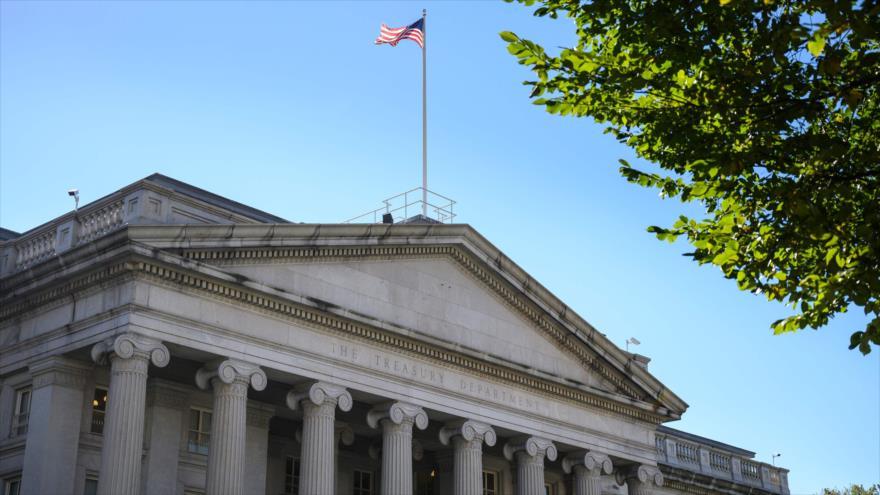 La sede del Departamento del Tesoro de Estados Unidos en Washington (capital), 18 de octubre de 2018. (Foto: AFP)