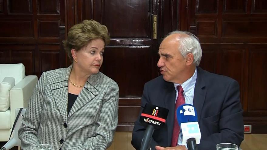 Rousseff y Samper debaten sobre derechos humanos en América Latina